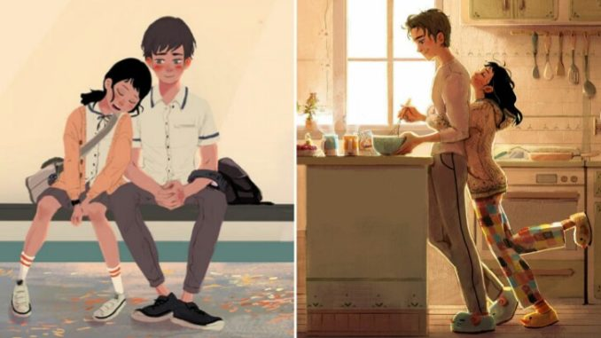 7 Gambar ilustrasi romantis ini tunjukkan kehidupan cinta yang sebenarnya!  | LifeLoeNET